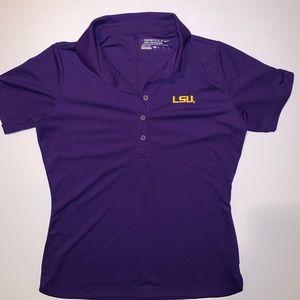 Nike Golf Womens LSU Tigers Polo Shirt Dri Fit M